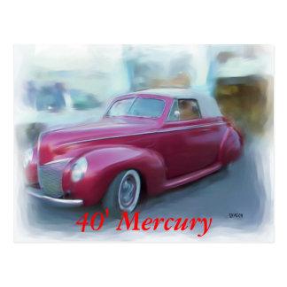 40' Mercury Postcard