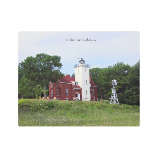 40 Mile Point Lighthouse Metal Wall Art
