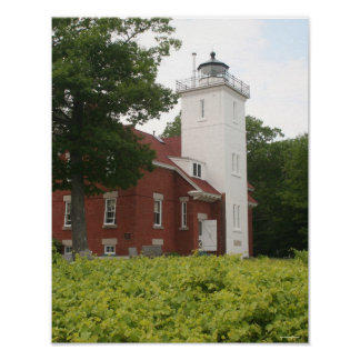 40 Mile Point Lighthouse Poster