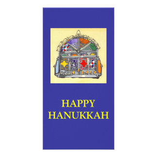 40 Moroccan Hanukkiah, dummy (2), HAPPY HANUKKAH Card