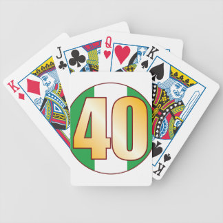 40 NIGERIA Gold Bicycle Playing Cards