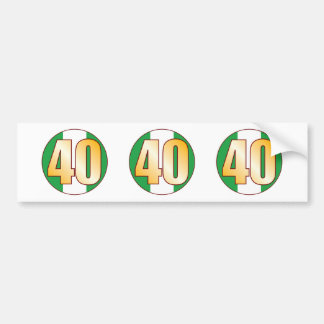 40 NIGERIA Gold Bumper Sticker