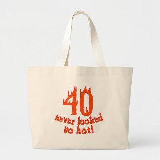 40 nunca parecido tan caliente bolsa tela grande