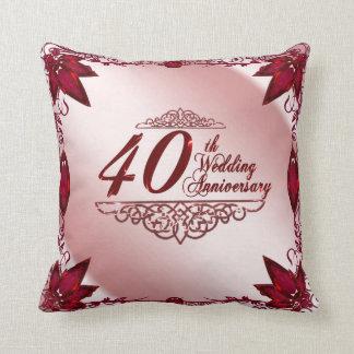 40 o Almohada de tiro del aniversario de boda
