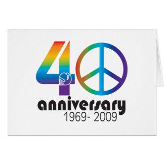 40.o Aniversario 1969-2009 Tarjeton