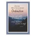 40.o Aniversario de la enhorabuena de la ordenació Tarjetón