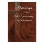 40.o Aniversario de la ordenación, del rosa rojo y Tarjetas