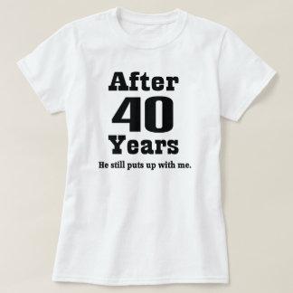 40.o Aniversario (divertido) Camisas