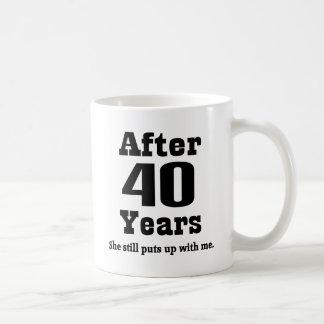 40.o Aniversario (divertido) Taza De Café