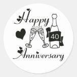 40.o. Aniversario Pegatina