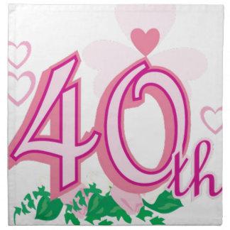 40.o aniversario servilletas imprimidas