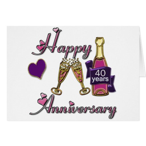 40.o. Aniversario Tarjeta