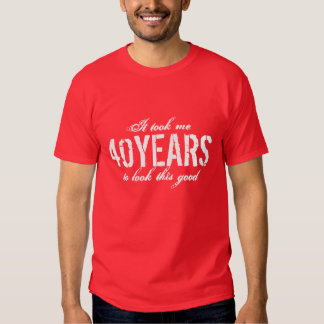 40.o Años del personalizar de la camiseta el | del Playera