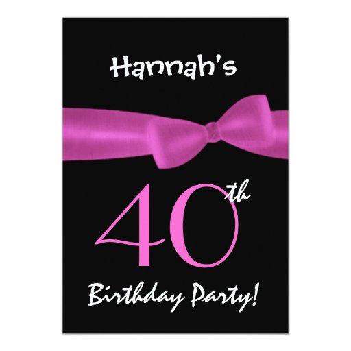 """40.o Arco impreso negro y colorido de la fiesta de Invitación 5"""" X 7"""""""