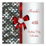 40.o Arco rojo del diamante de las lentejuelas de Comunicado Personalizado