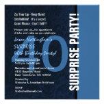 40.o Azul moderno S592 del cumpleaños de la SORPRE Invitacion Personalizada