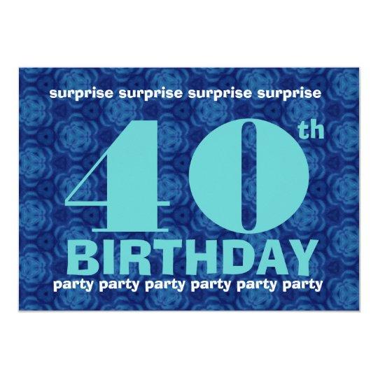 """40.o Azul y aguamarina B400 de la fiesta de Invitación 5"""" X 7"""""""