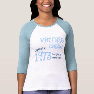 40.o Azules cielos 1973 del Brew del vintage del Camisas