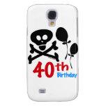40.o Bandera pirata del cráneo del cumpleaños