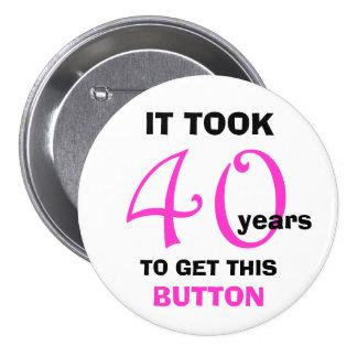 40.o Botón de los regalos de la mordaza del