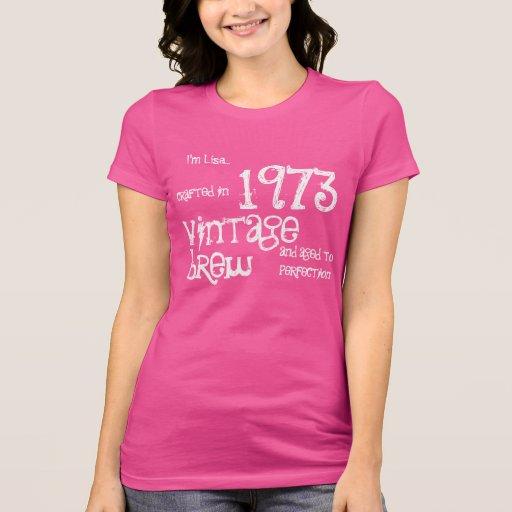 40.o Brew 1973 del vintage del regalo de cumpleaño Camisetas