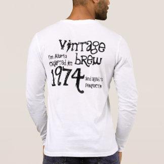 40.o Brew 1974 del vintage del regalo de Camiseta
