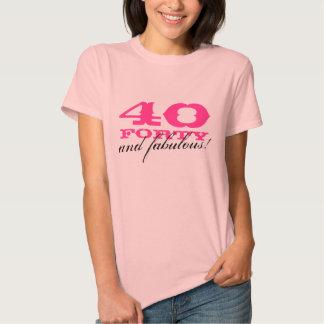 40.o ¡Camisa el | 40 del cumpleaños y fabuloso! Playeras