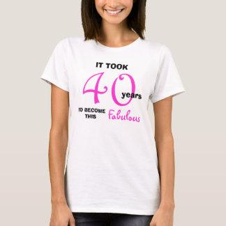 40.o Camisetas del cumpleaños - 40 y fabuloso