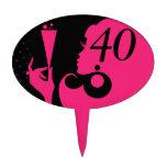 40.o Chica del cóctel de la fiesta de cumpleaños - Figuras De Tarta