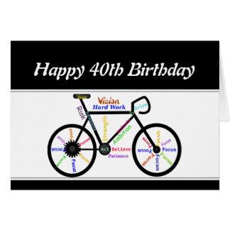40.o Ciclo de motivación de la bicicleta de la bic Felicitacion