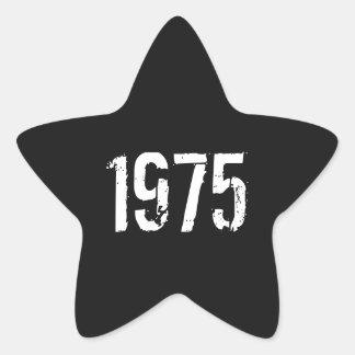 40.o Cumpleaños 1975 Pegatina En Forma De Estrella