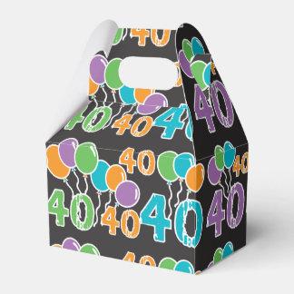 40.o cumpleaños colorido - 40 años de Bday viejo Caja Para Regalo De Boda