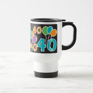 40.o cumpleaños colorido - 40 años de Bday viejo Taza Térmica