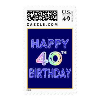 40.o Cumpleaños con el sello de la fuente del glob