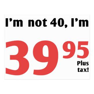 40.o cumpleaños de la diversión más impuesto tarjeta postal