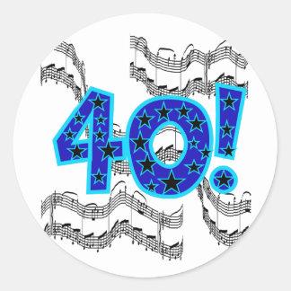 40.o cumpleaños del Musical Pegatinas Redondas