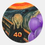 40.o cumpleaños divertido pegatina redonda