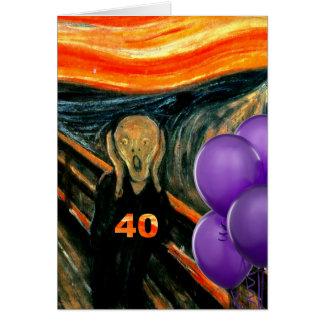 40.o cumpleaños divertido tarjeta de felicitación