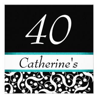 40 o cumpleaños elegante cualquier celebración de comunicado personalizado