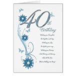 40.o cumpleaños en trullo con las flores y la mari tarjeton