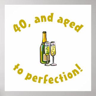 40.o Cumpleaños envejecido a la perfección Póster