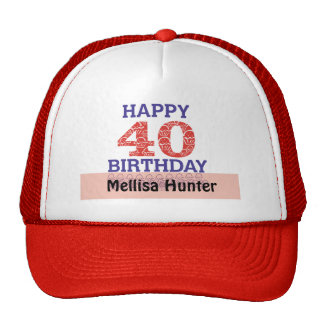 40.o cumpleaños feliz gorras de camionero