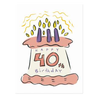 ¡40.o cumpleaños feliz! tarjetas postales