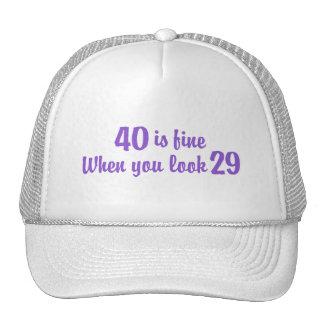 40.o Cumpleaños Gorro