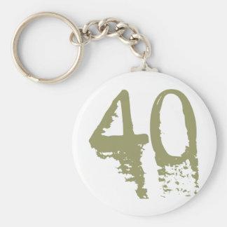 40.o Cumpleaños Llavero Redondo Tipo Pin