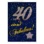40.o cumpleaños para alguien fabuloso tarjeton
