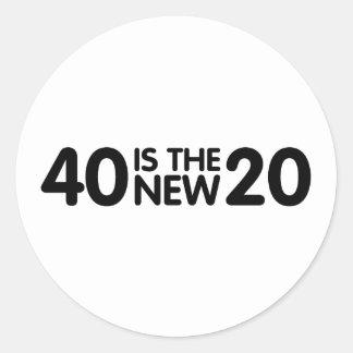 40.o Cumpleaños Etiqueta Redonda