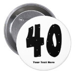 40.o Cumpleaños (personalizable) Pin