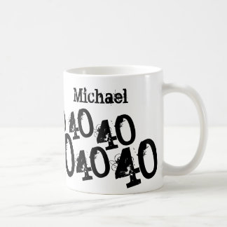 40.o cumpleaños personalizado del negro