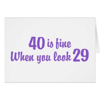 40.o Cumpleaños Tarjeta De Felicitación